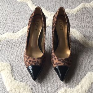 LOFT Leopard Cap Toe Pumps